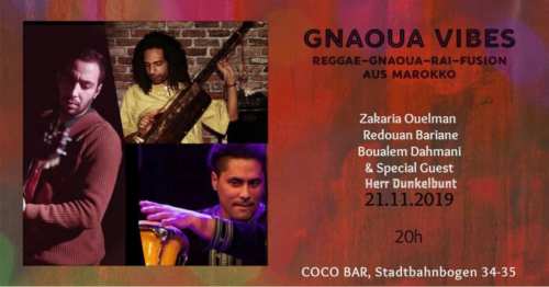 Mr Dunkelbunt @ Gnaoua Vibes, 2019-11-21 Coco Bar, Vienna
