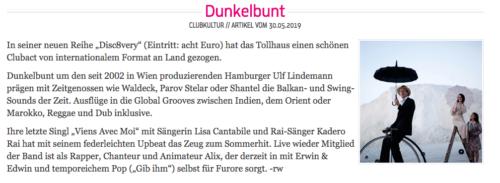 Roger Waltz on [dunkelbunt], INKA Stadtmagazin 06/2019, Karlsruhe