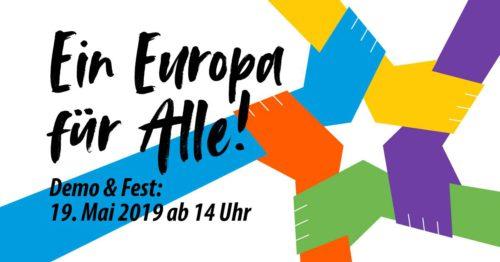 Demo und Fest: ein Europa für Alle
