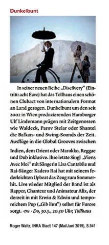 Roger Waltz, INKA Stadtmagazin 147/2019, S.94f