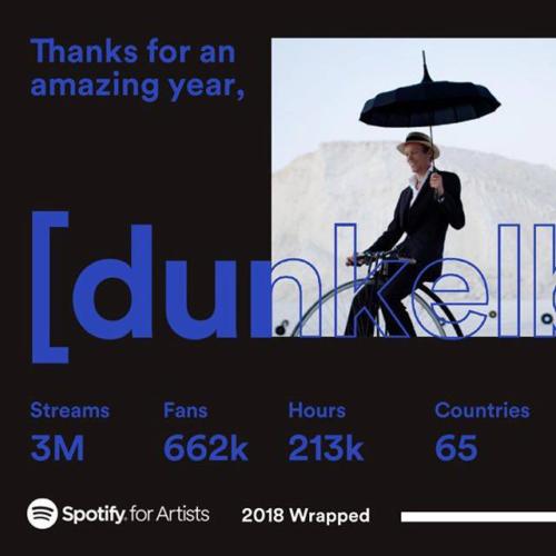 dunkelbunt, spotify, stats, 2018, Ulf Lindemann